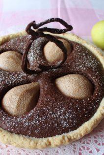 Tarta de Peras y Almendras con chocolate