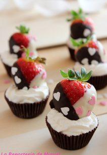 Chocolate, Fresas y Nata…..Feliz San Valentín .