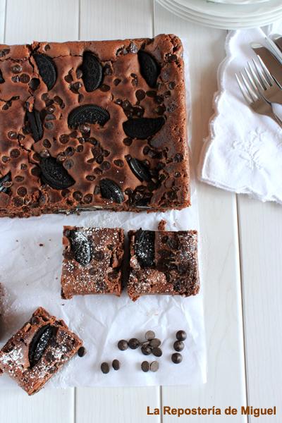 Receta del Brownie Oreo publicada con anterioridad en el blog La Repostería de Miguel
