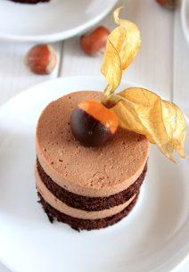 Chocolate Cake-Mousse Individual