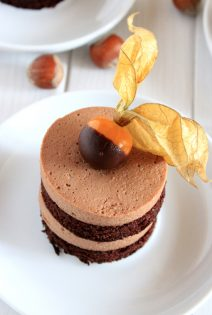 Chocolate Cake-Mousse Individual