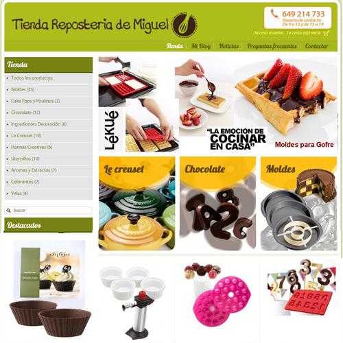 tienda online de articulos y productos de reposteria Tienda Reposteria de Miguel. com