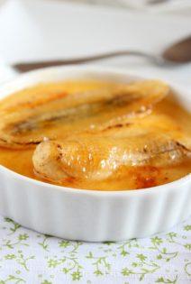 Mandarina Crème Brûlée y Plátano Caramelizado