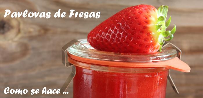 Pavlovas de Fresas