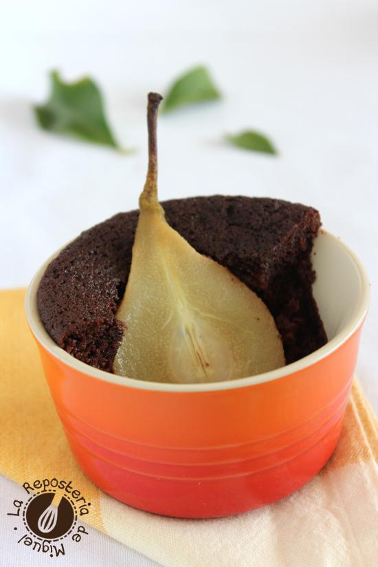 Bizcocho de Chocolate y Peras