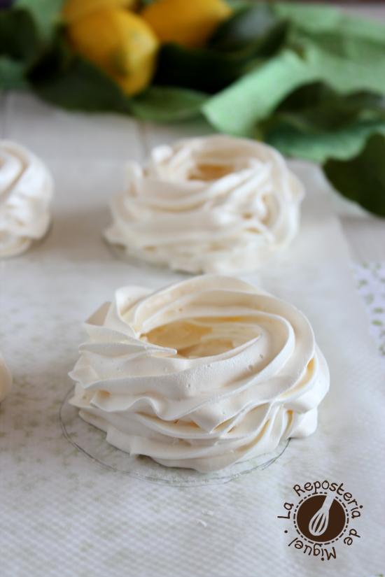 Pavlovas de Crema de Limón