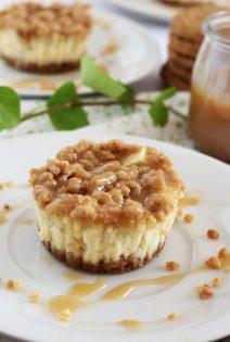 Mini Tartas de Queso con Manzana y Caramelo