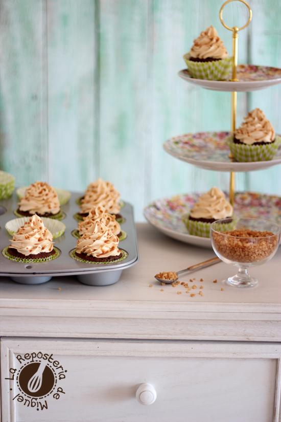 Cupcakes de Chocolate, Café y Caramelo