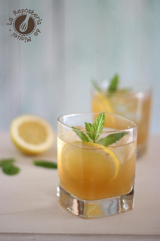 Limonada de Té Negro y Jengibre