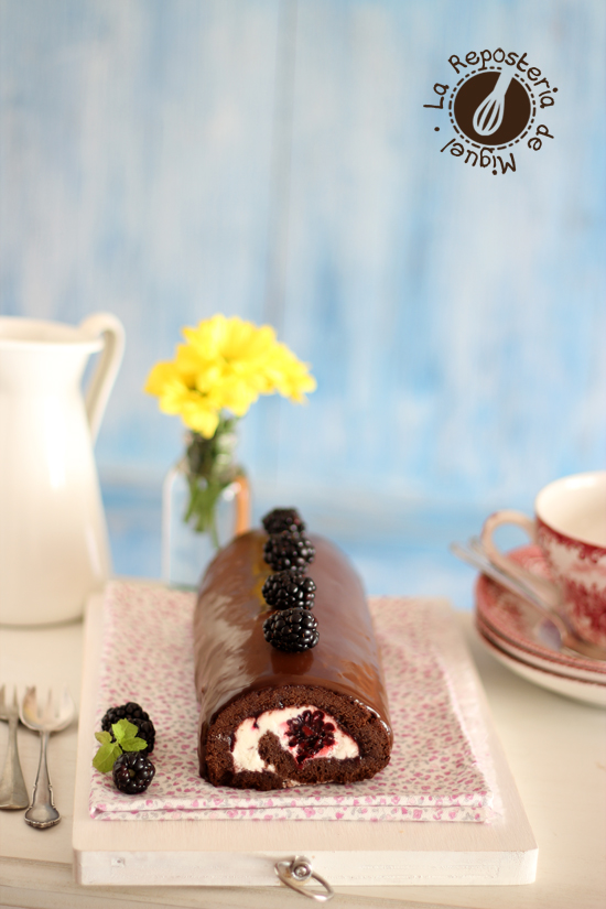 Rollo de Chocolate y Moras