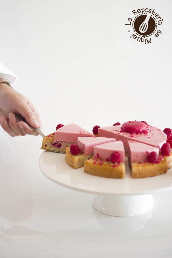 Frangipane y Mousse de Frambuesas