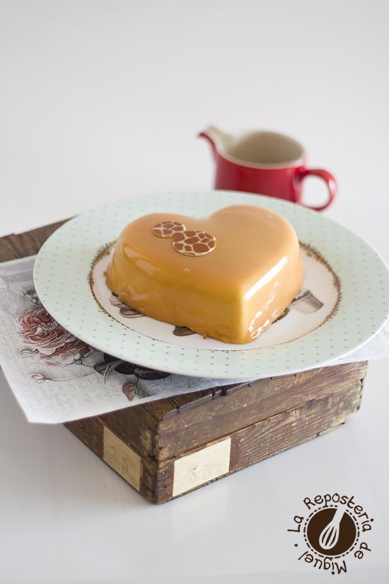 Mousse de Caramelo con Glaseado de caramelo