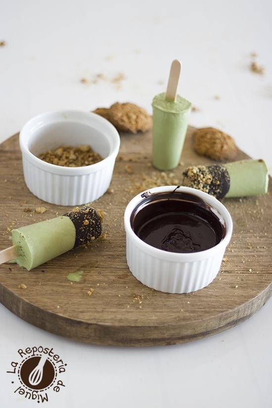 Helados de Té Matcha, Coco y Chocolate