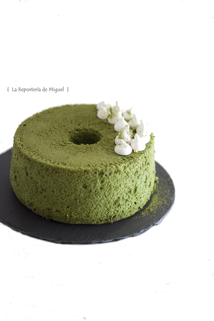 Angel Food Cake Té Matcha