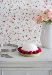 Mousse de Chocolate Blanco y Gelatina de Mermelada de Higo