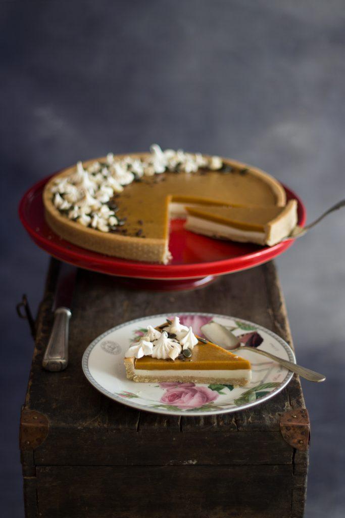 Tarta de Chocolate Blanco y Calabaza