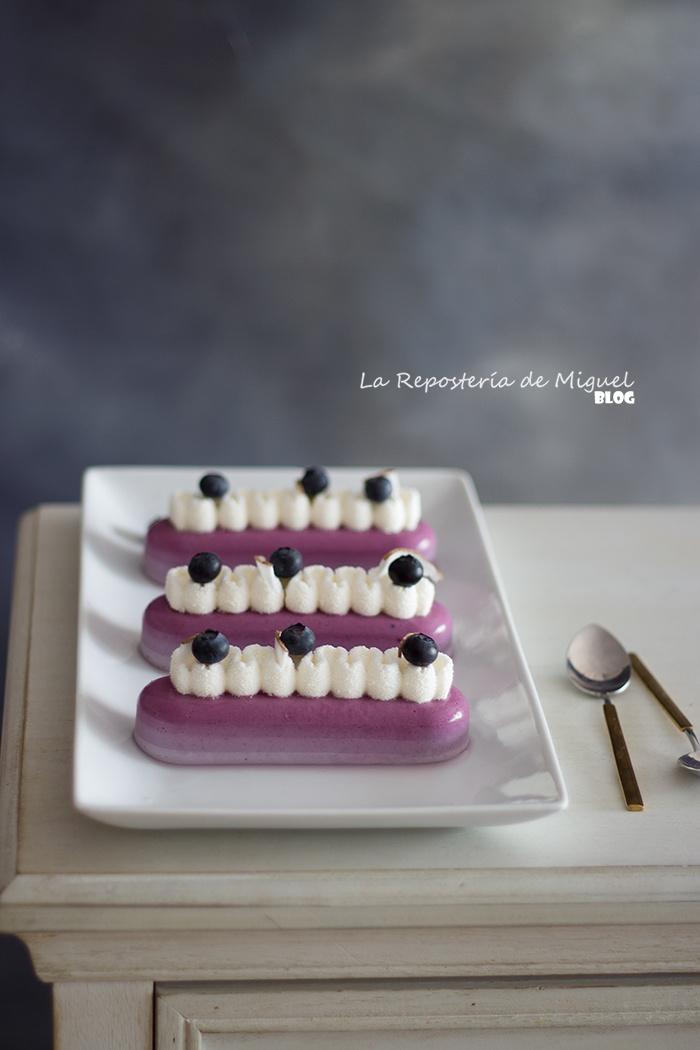 Panna Cotta de Arándanos y mousse de Coco