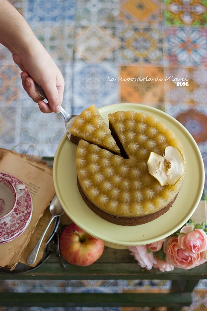Bizcocho de Manzana de Chocolate