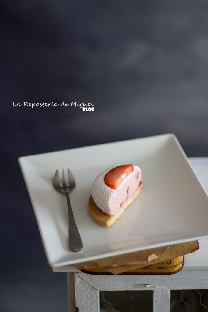Mousse de Fresa con vinagre de Módena