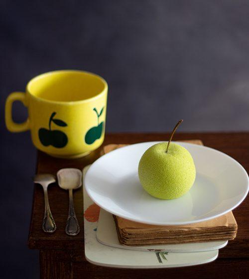 Mousse de Manzana Verde y Caramelo