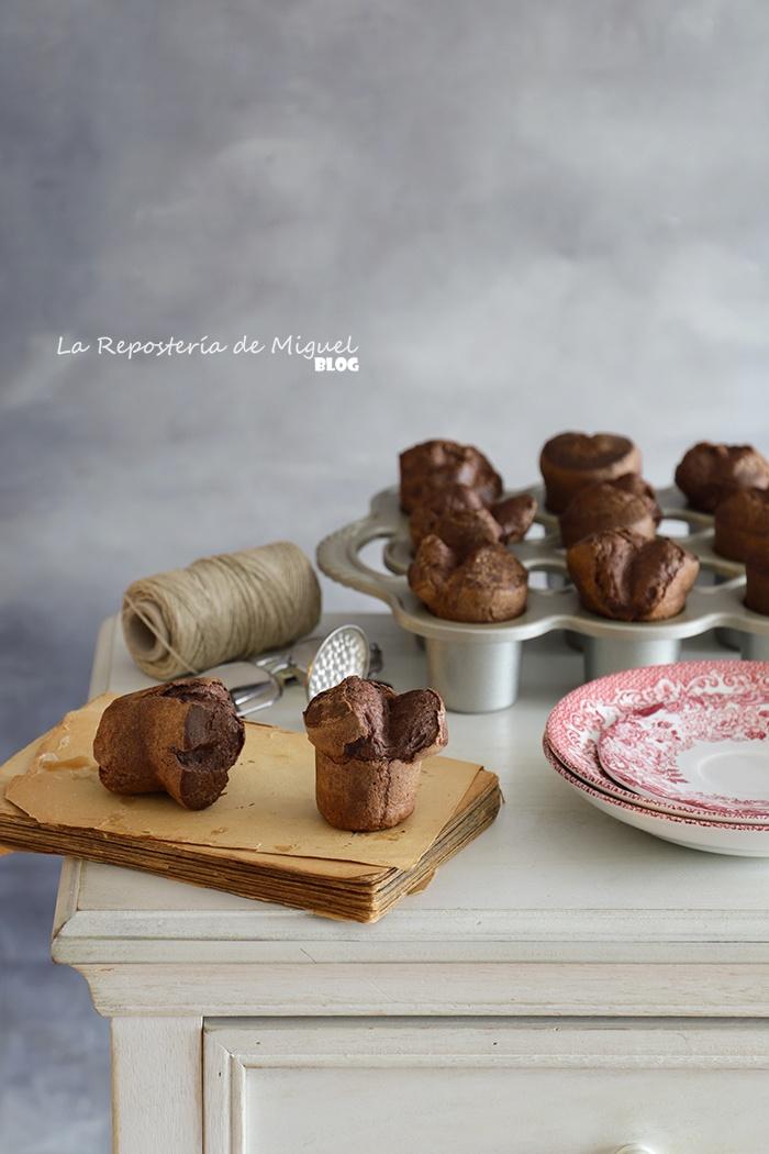 Popovers de chocolate