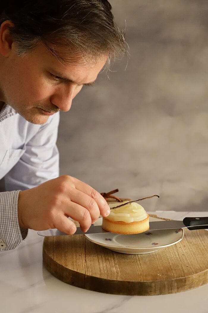 Tartaleta de pera y caramelo