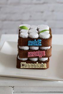 Chocolate mango cake